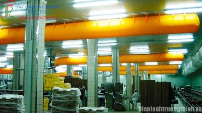 Thi công ống gió vải tại TPHCM